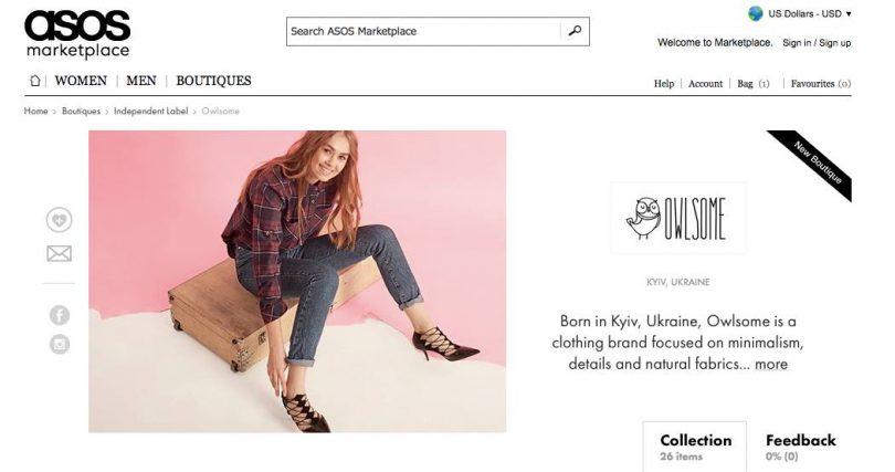 Как начать продавать свои товары на Asos: опыт украинского бренда Owlsome