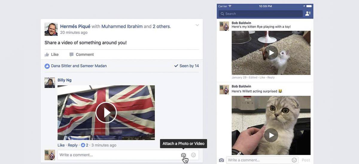 facebook видео