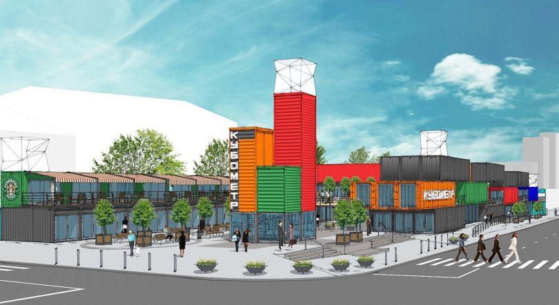 Торговля из контейнера: как выглядит новый концептуальный торговый парк «Кубометр» в Днепре (фото)