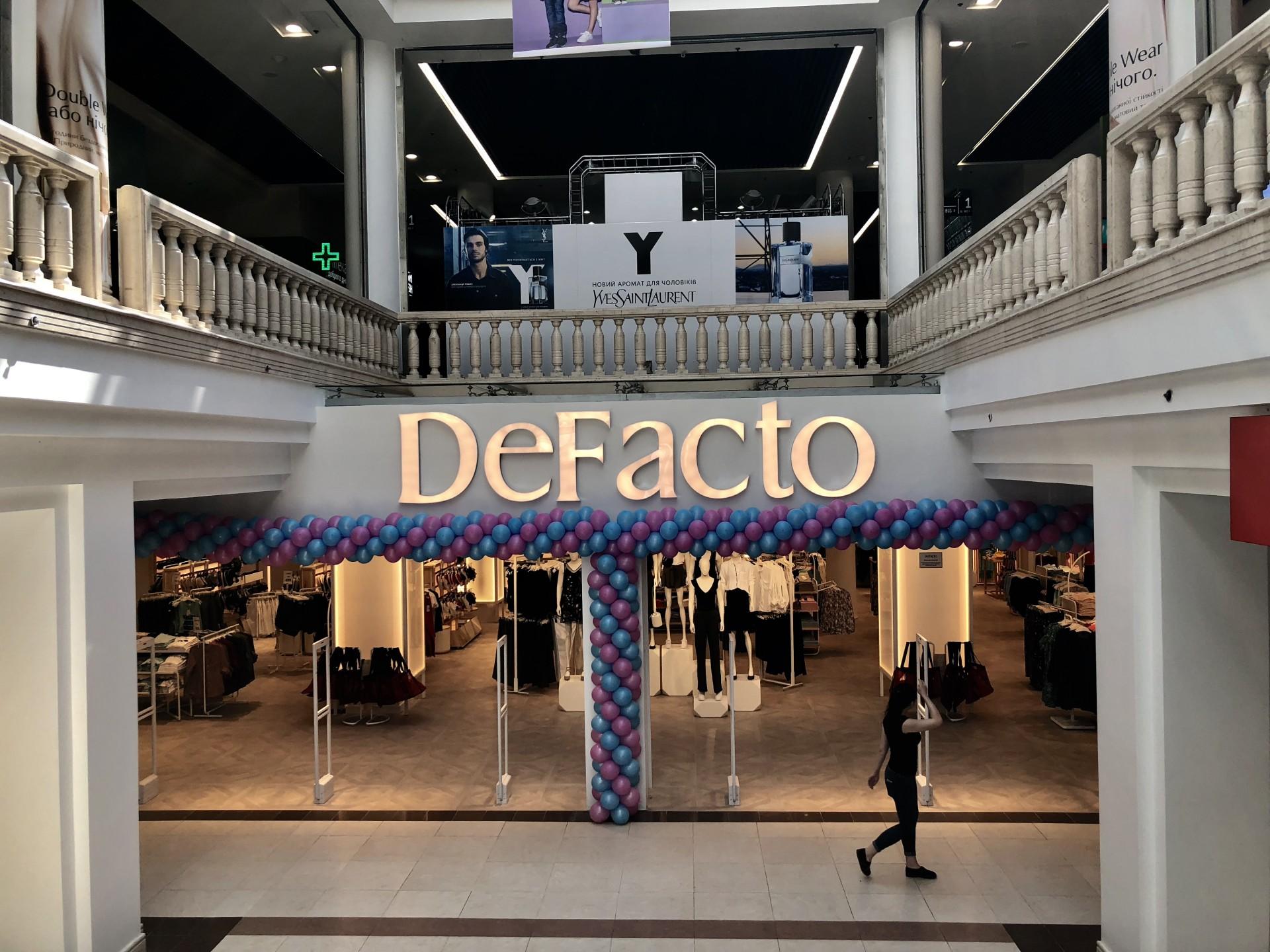 Другий магазин DeFacto відкривається через два тижні в одеському ТРЦ Riviera 87b86e62d58ca