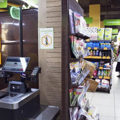 First Ukrainian-made self-checkout machines are set up at Pchelka, Kyiv