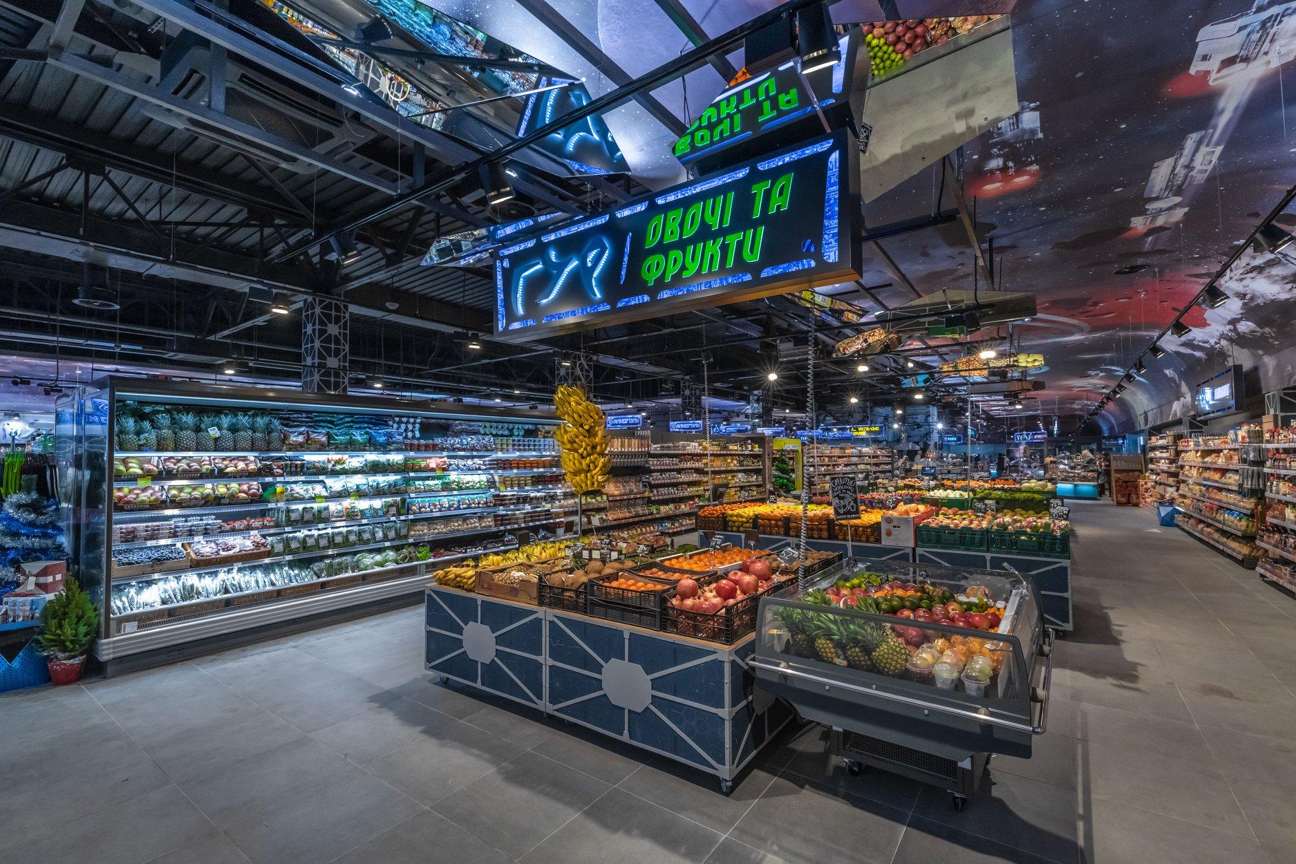 21 грудня Fozzy Group відкрила новий супермаркет Сільпо з новим  концептуальним дизайном – в космічному стилі в Харкові на проспекті  Гагаріна bd3432137eb7f