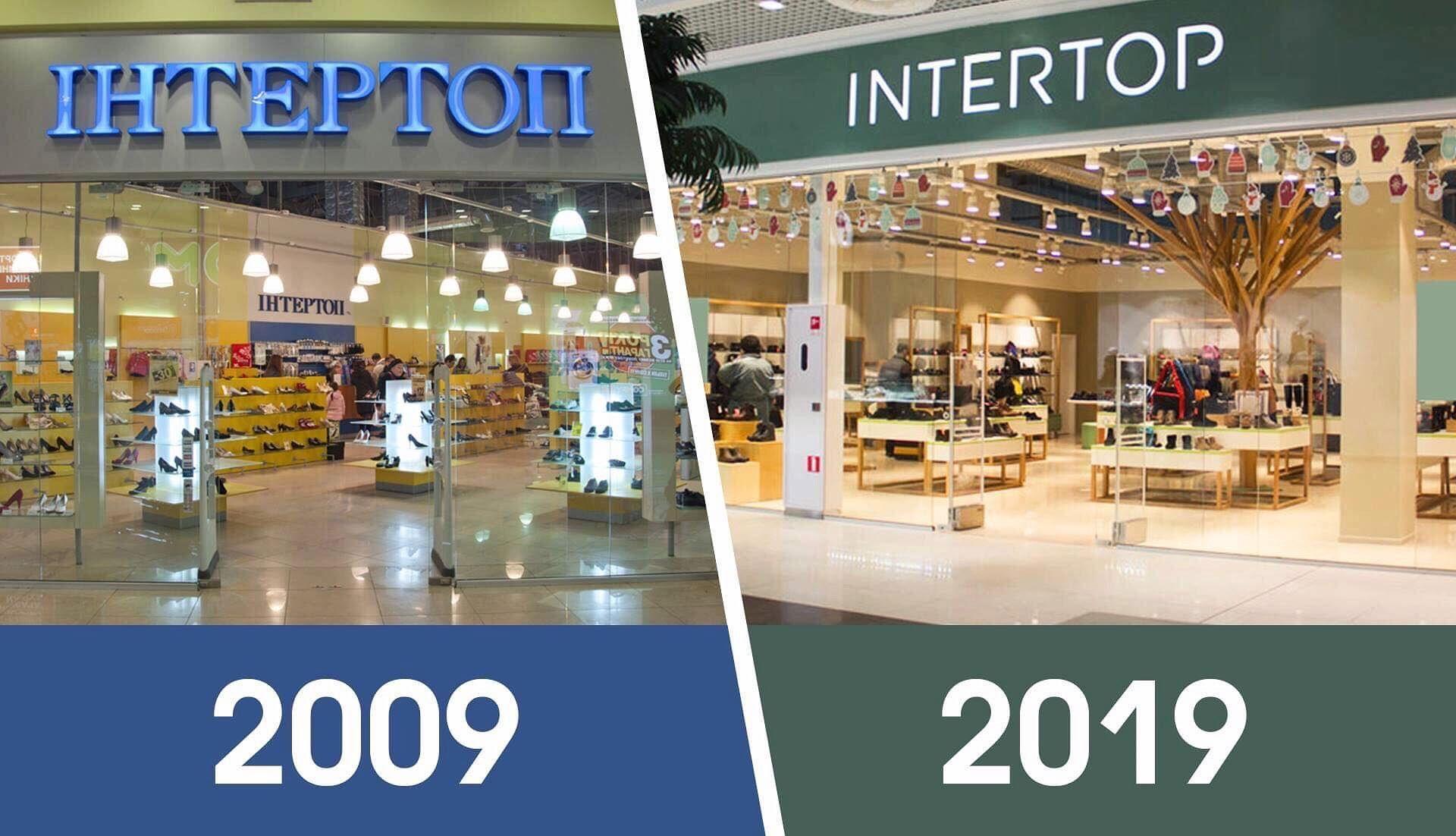 15a62776b Помимо вышеупомянутых брендов, сейчас компания также развивает сети  магазинов Intertop, Ecco, Timberland, Geox, Clarks, Intertop Outlet,  Intertop Kids.