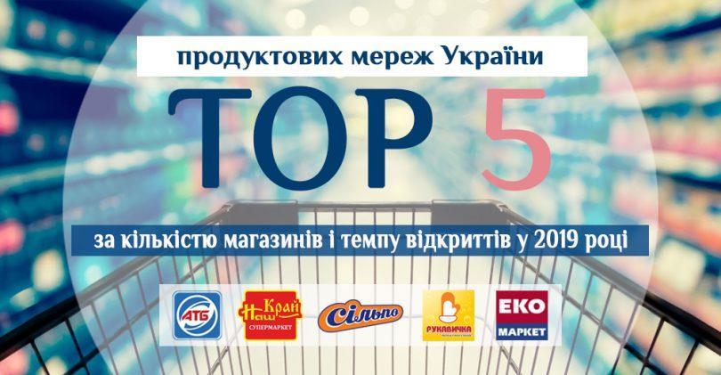 Топ-5 українських продуктових мереж за кількістю магазинів і динамікою відкриттів