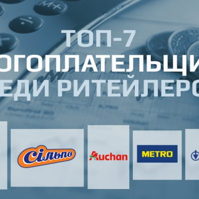 Топ-7 платників податків у рітейлі України: АТБ, Епіцентр К, Сільпо, Metro, Ашан та інші