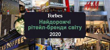 Рейтинг Forbes: ТОП-20 найдорожчих рітейл-брендів 2020 року