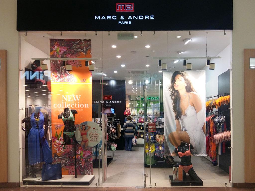 f65a2c854 ... одежды для дома и отдыха, основанный в 1985 году во Франции. Под маркой  Marc & Andrе выпускаются линии женского белья, домашней одежды, летней  обуви и ...