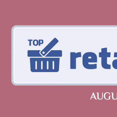 Топ-20 украинских ритейлеров и ТРЦ в Facebook в августе 2020 года