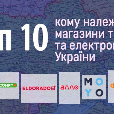 Володарі техно-рітейлу: кому належать топ-10 найбільших мереж магазинів техніки та електроніки України